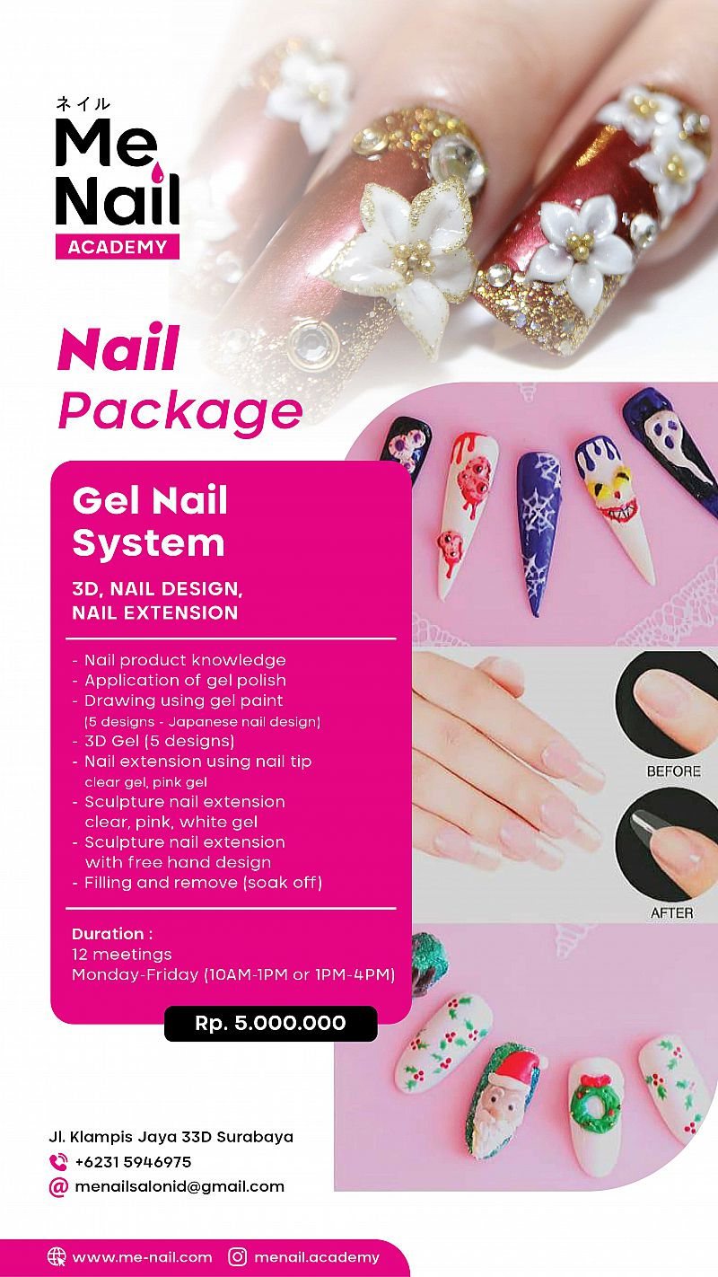 Gel Nail System (3D, Nail design, and Nail Extension)